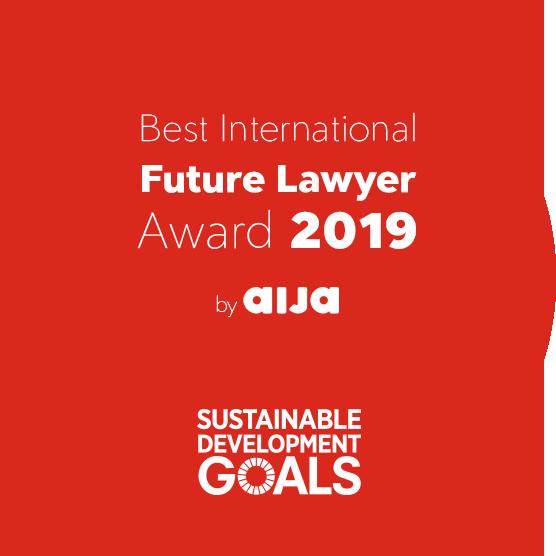 AIJA Best International Future Lawyers Award • 2019